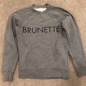 Brunette grey crew neck hoodie